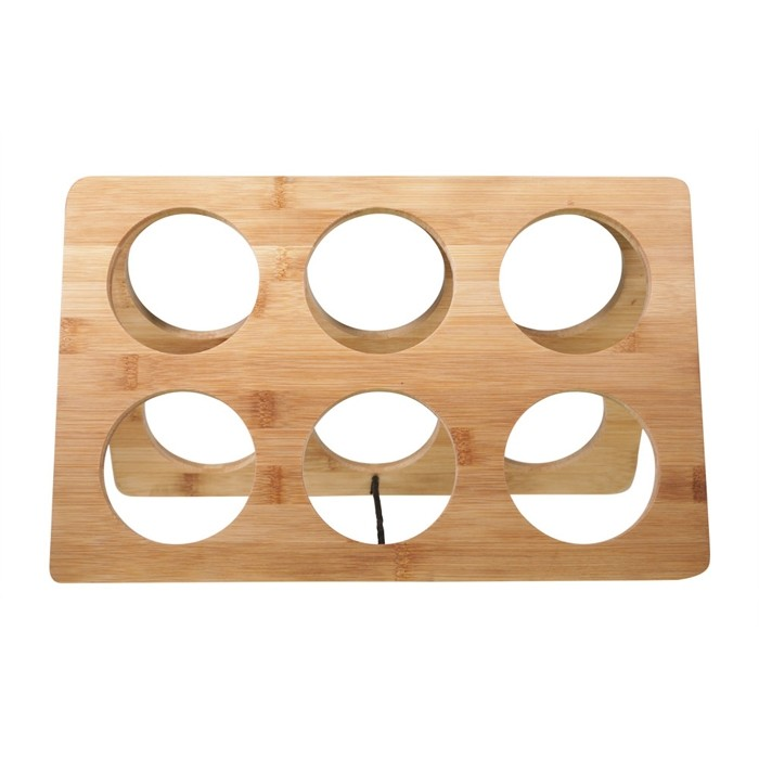 Bamboo Wooden Wine Stand Rack for 6 Bottles