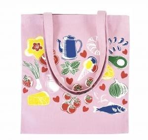 8 Oz Pink Colored Canvas Tote Bag with Edge-to-Edge Printing 8-10 Weeks - Overseas Factory Direct
