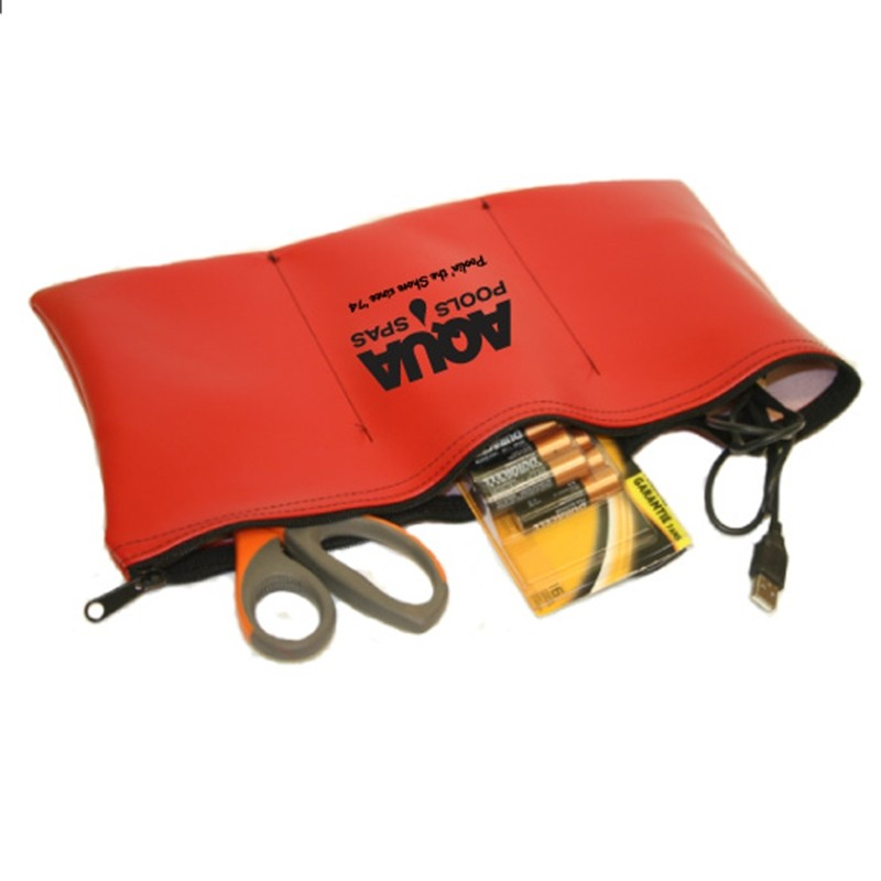 Flat Vinyl Everything Pouch XL with Dividers 15x8.5 Inch