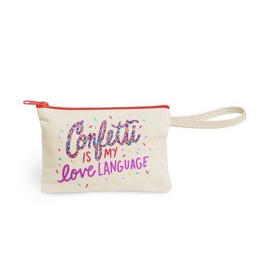 Molly Strappy Canvas Wristlet Pouch