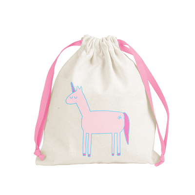 Canvas Gift Drawstring Pouch 8x9.75