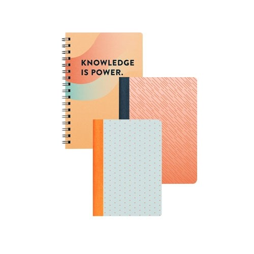 Full Color Notebook in Spiral or Tape Bounded Journal Notebook 6x4.5 Medium 4x5.5 Small