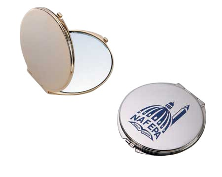 Gold Round Mirror Compact