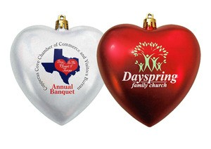 4 Inch Heart Shaped Ornaments