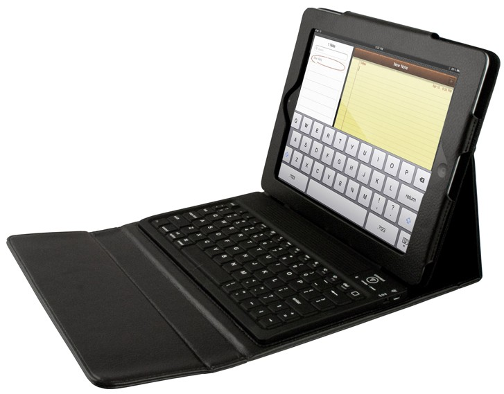 Leatherette Trifold iPad Case with Built-In Keyboard