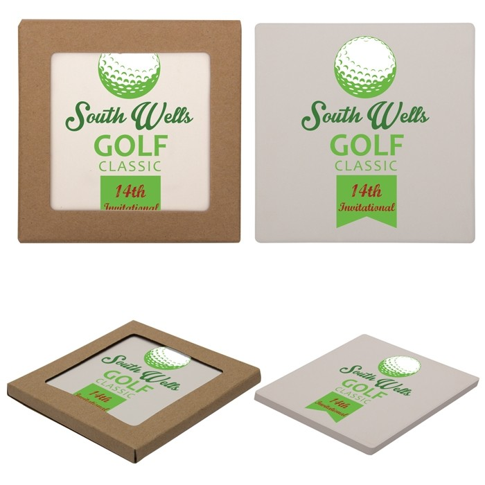 Stone Square Coaster with Cork Backing