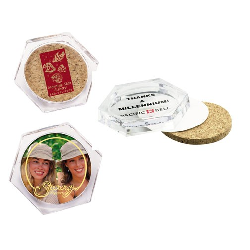 Promotional Acrylic Coasters with Cork
