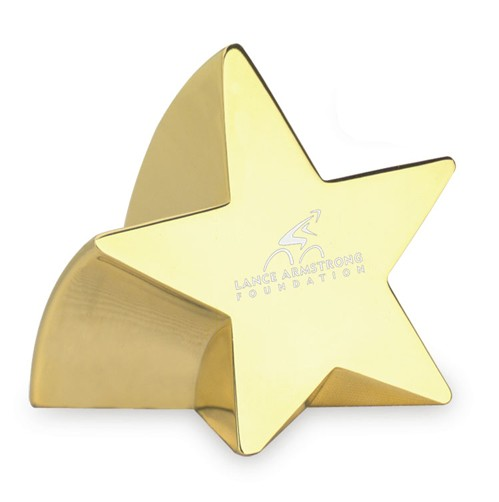 Star Struck Gold Paperweight