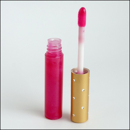 Premium Lip Gloss Tube with Jeweled Bling Wand