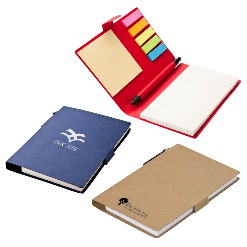 Sticky Note, Flags, Pen Notebook Combo