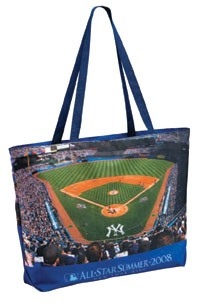Custom Made All Over Imprinted Polyester Zippered Tote Bag