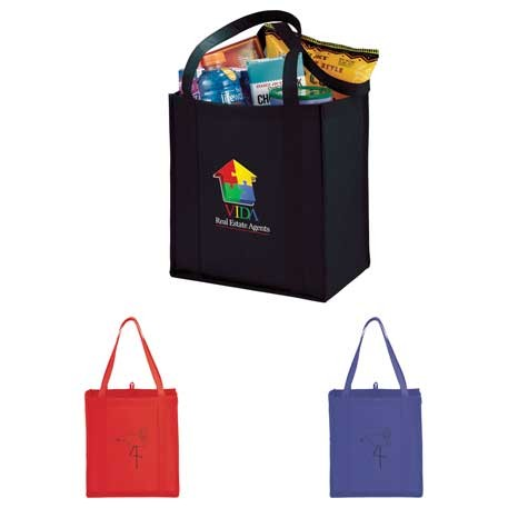 Nonwoven Polypro Grocery Tote Small 13 x 8 x 12