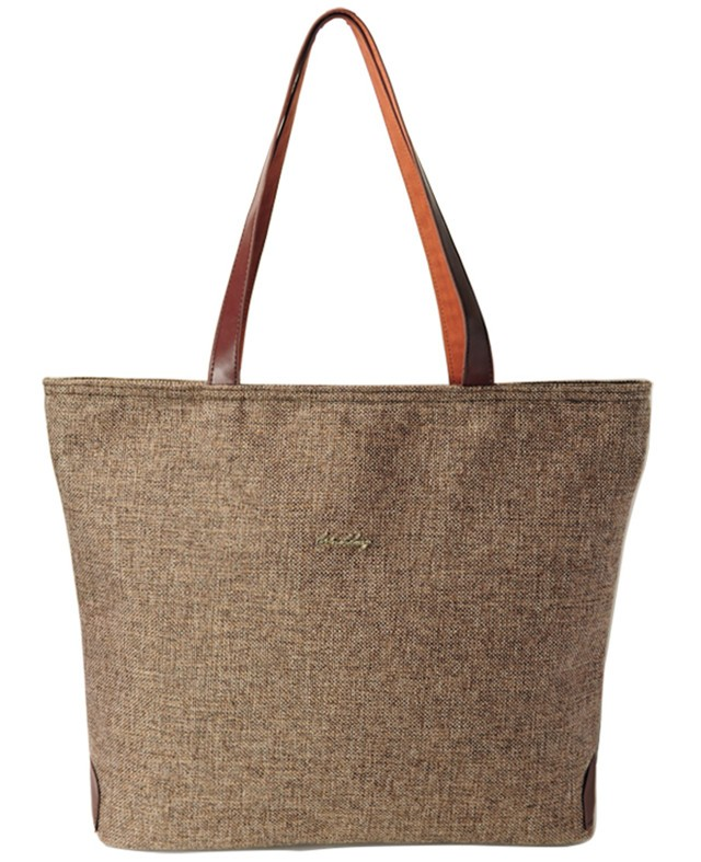 Premium Hemp Tote with Faux Leather Straps