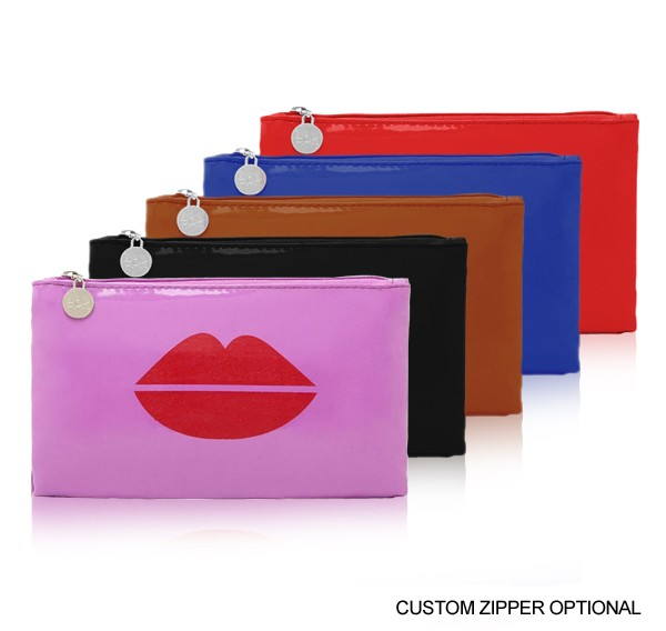 Glamour Patent Zippered Pouch