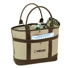 Designer Two Tone Fully Lined Tote