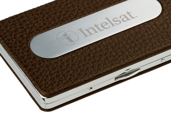 Textured Leather Business Card Holder