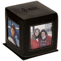 Eco Friendly Leather Photo Cube