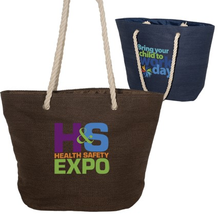 Eco Friendly Straw Material Rope Tote