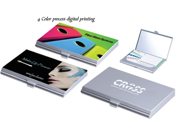 Full Color Business Card Case and Mirror Compact