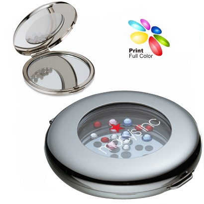 Bling Crystals Embedded Mirror Compact
