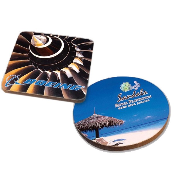 Full Color Imprinted Wooden Coasters