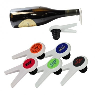 Combo Wine Bottle Stopper and Stand