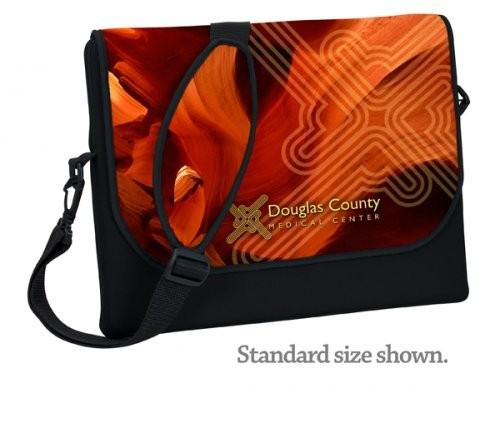Neoprene Laptop Sleeve Briefcase Small, Full Color Imprinting and Sublimation