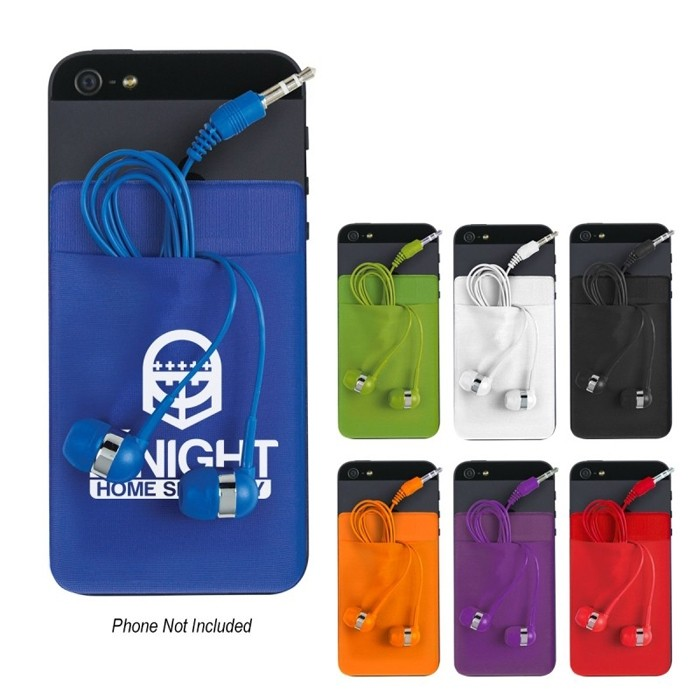 Mobile Phone Stretch Case for Ear Buds