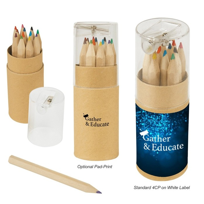 Combo Colored Pencils Gift Set with Sharpener