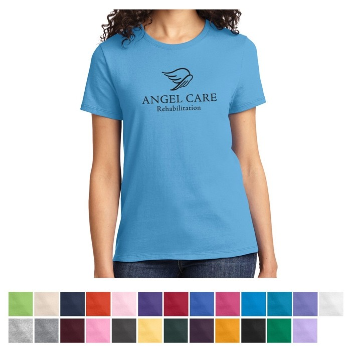 Port & Company® Ladies Essential Cotton Colored T-Shirt - HVY-WGT