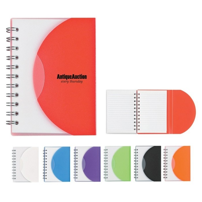 3x4 Spiral Bound Flexible Color Notebook Mini