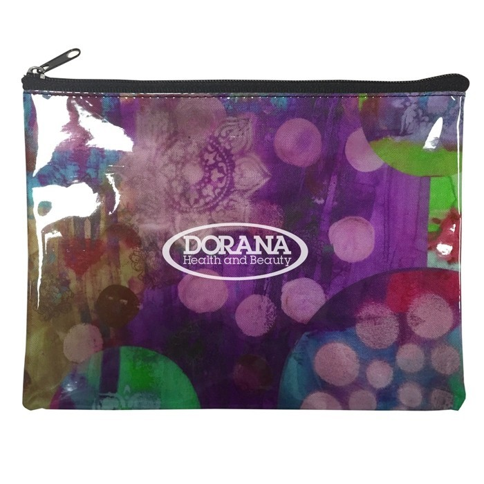 Full Color Cosmetics Zippered Pouch Clear Overlay II