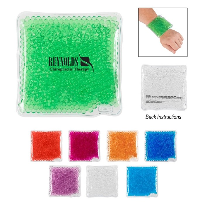 Square Shaped Gel Bead Packs for Hot and Cold