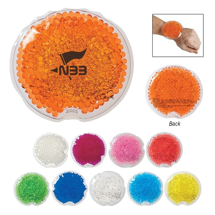 Round Gel Bead Packs for Hot and Cold