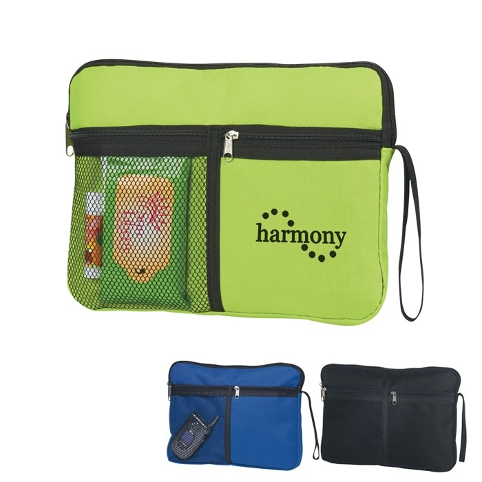 Get Carried Away PolyCanvas with Mesh Pocket Zippered Case