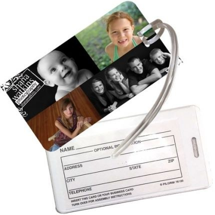 Rectangle Vinyl Luggage Tag