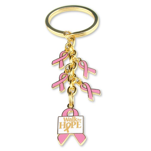 Pink Ribbon Dangle Key Chain