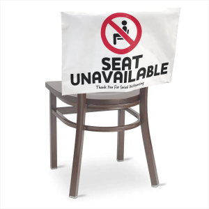 24 Hour Rush COVID-19 Chair Cover Signage