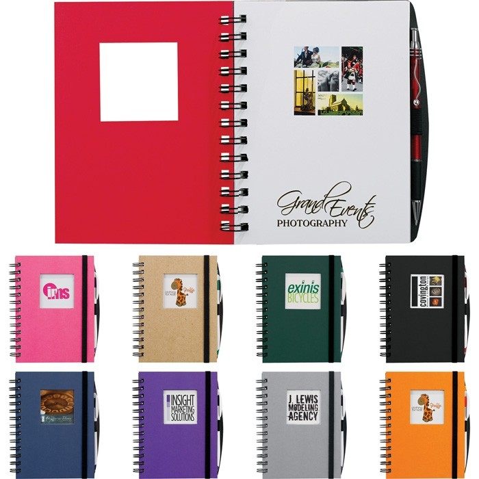 Full Color Die Cut Window Hard Cover 5 x 7 Notebook