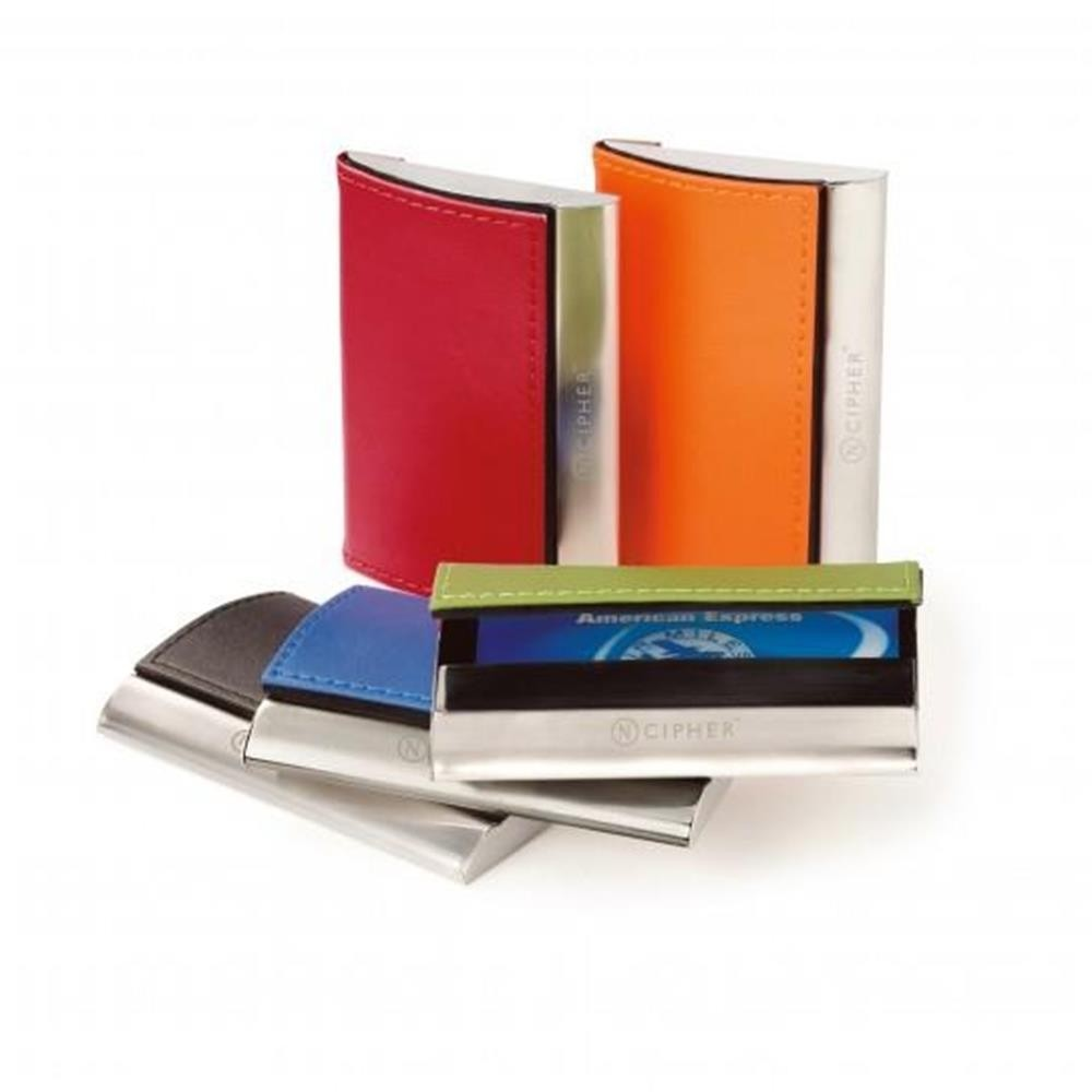 Bright Color Leather Card Case