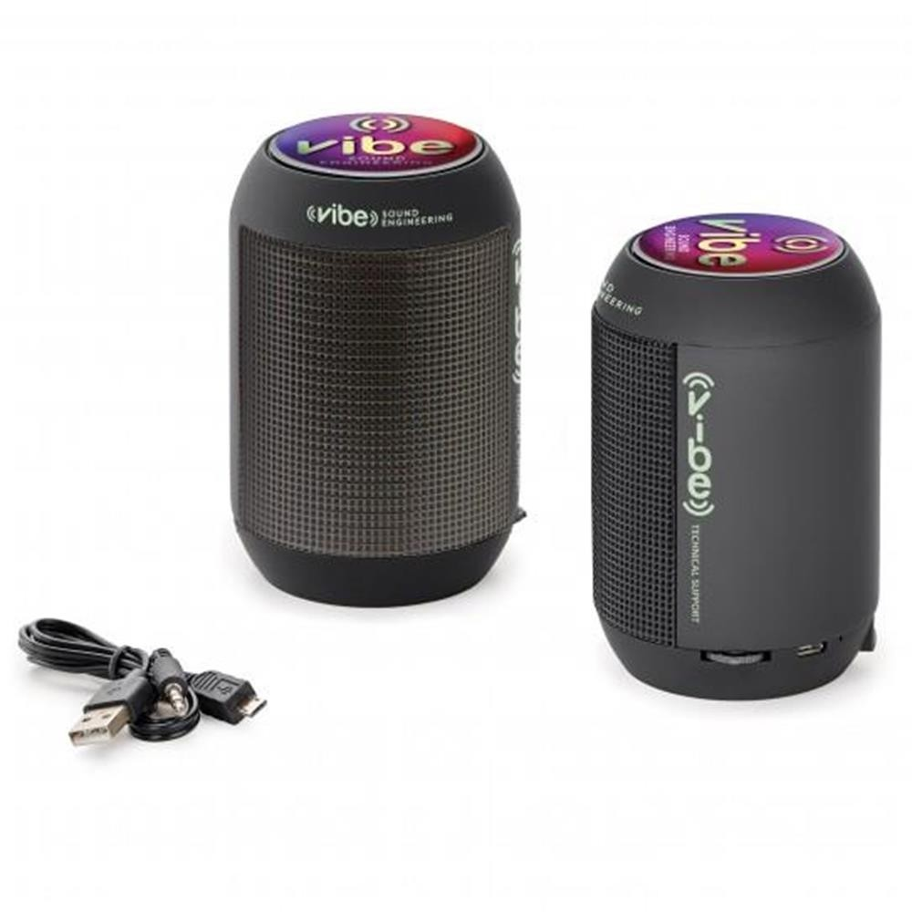 Wireless Speakers with FM Radio and LED Lights