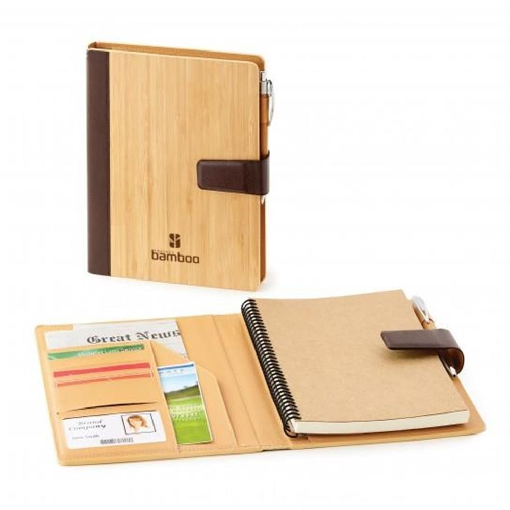 Eco Friendly Bamboo Journal Book with Refillable