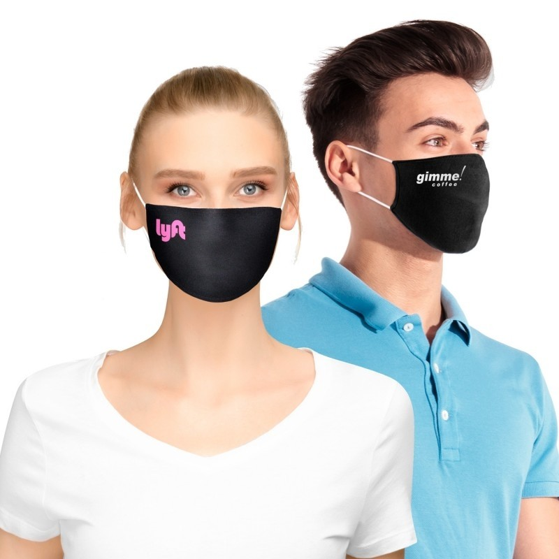 100% Cotton Double Layer Protective Face Mask with Pocket for Filter
