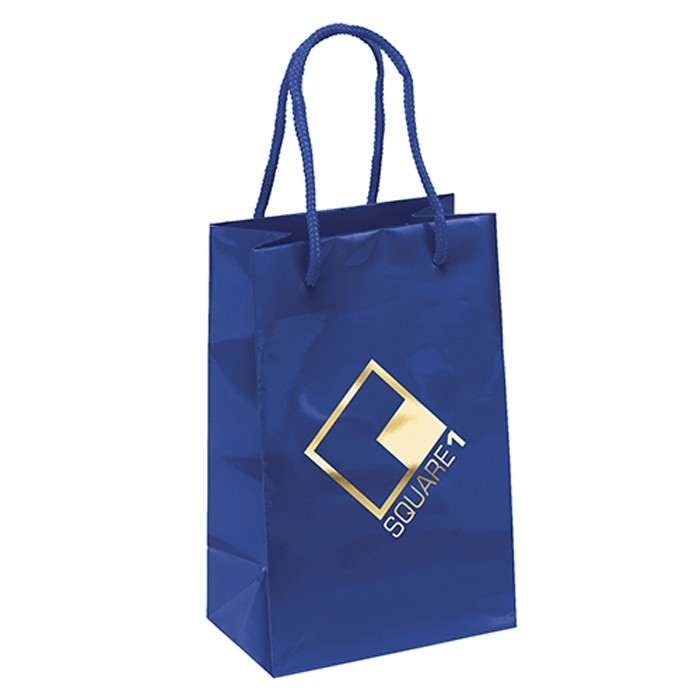 Premium Weight Matte Retail Shopper Tote Vertical 8.25 Tall