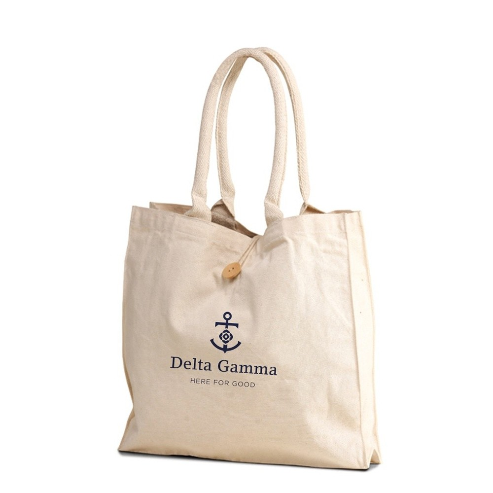 The Buttoned Up Canvas Tote 10 Oz