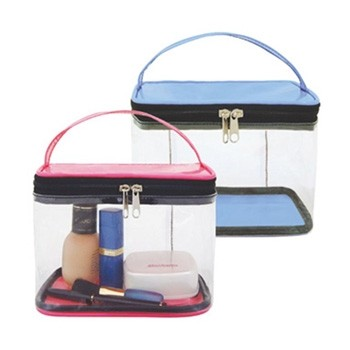 Clear Travel Case with Carry Handle
