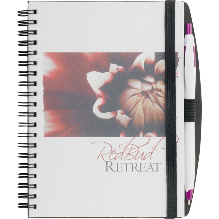 Full Color Translucent Poly Cover 5 x 7 Notebook