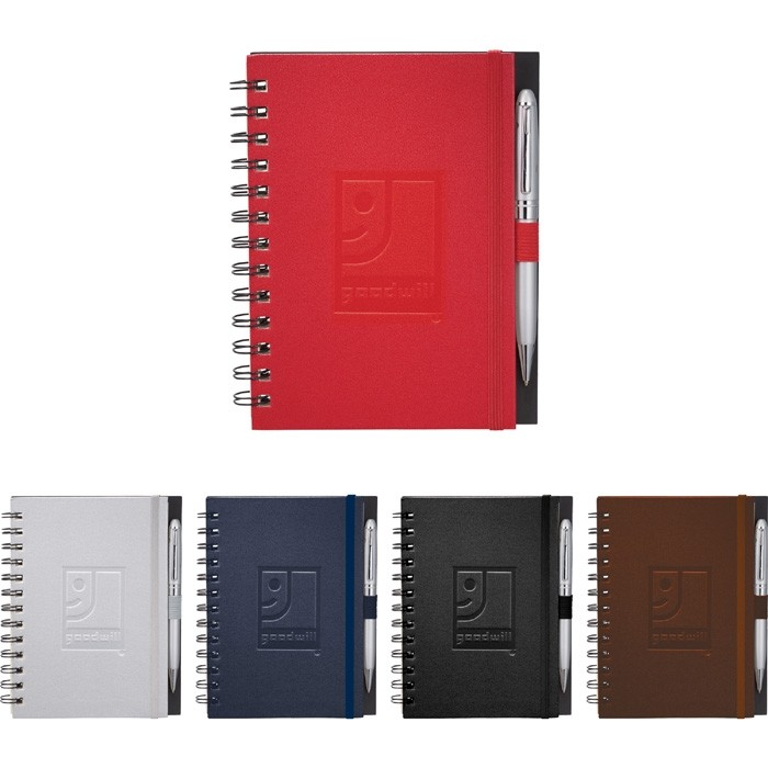 Vinyl Leatherette Cover Spiral Notebook 7x5.6