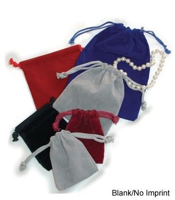 Blank Velour Drawstring Pouches Small 3x4