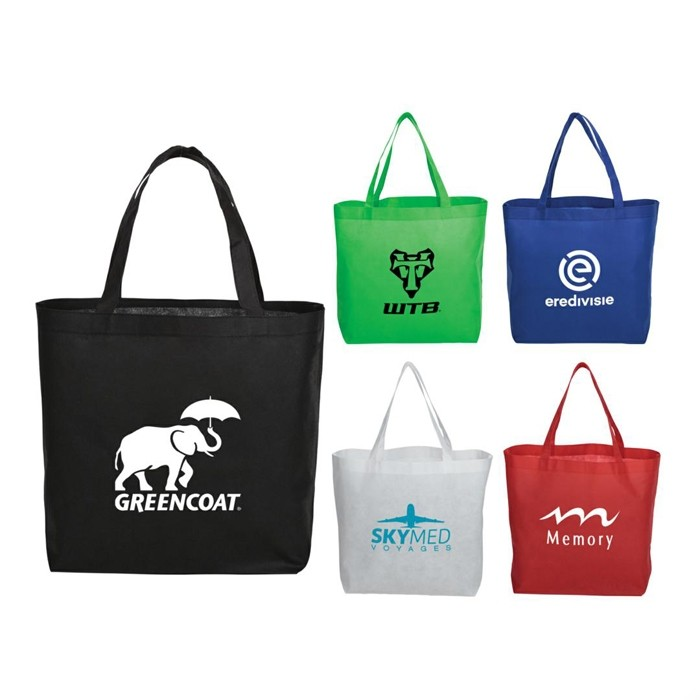 Simple Standard NonWoven Expo or Shopper Tote Bag Solid Color